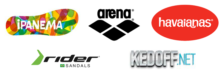 Пляжная обувь на Kedoff.net - бренды Rider, Ipanema, Havaianas, Arena
