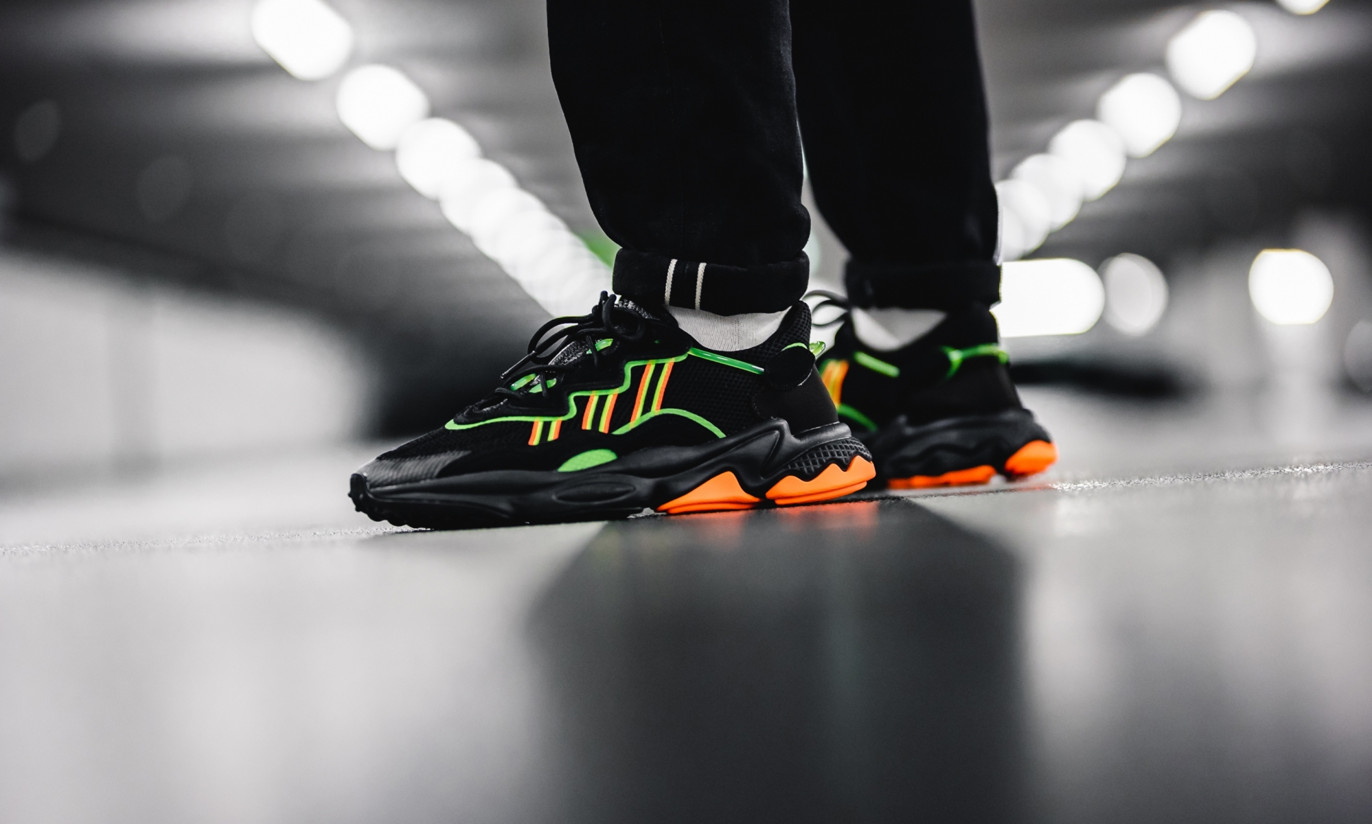 Adidas Ozweego Black Orange Green EE5696