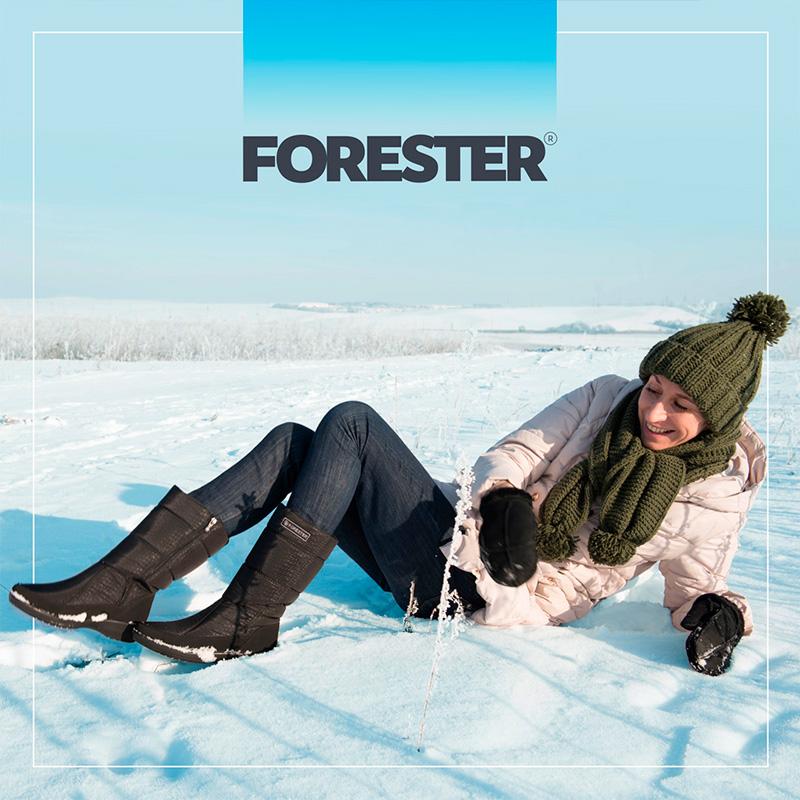 Зимние женские дутики от бренда Forester