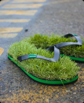 Пляжные вьетнамки KUSA с газонной травой