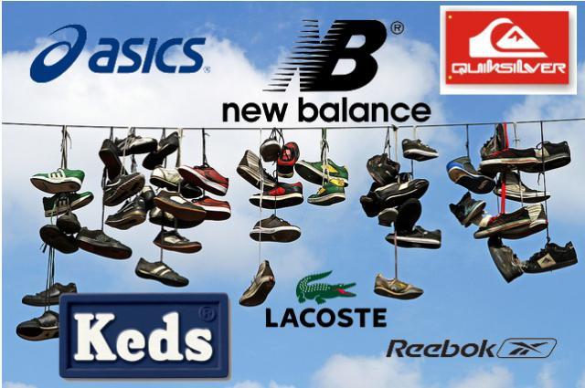 А почему именно Asics, New Balance, Keds, Reabok, Lacoste, Quiksilver?