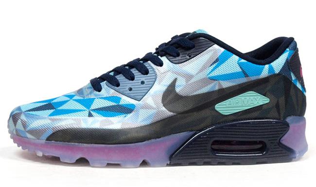 Nike Air Max 90 ICE Blue, Green & Magenta. Лимитированный выпуск