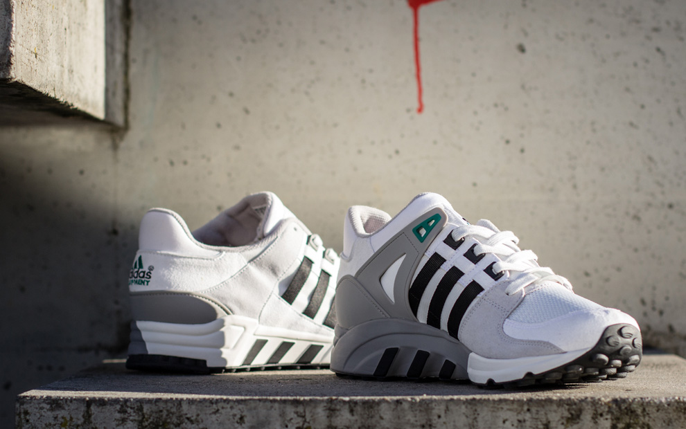 adidas Originals EQT Running Support 93 White, Black & Grey