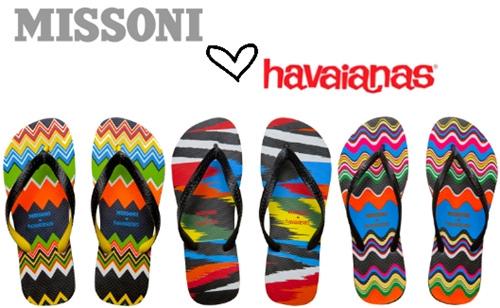 Италия и Бразилия - совместный продукт, - пляжная обувь от Missoni и Havaianas.
