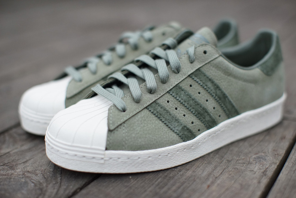 "Кроссовки Adidas Superstar 80s ""Olive Green"""