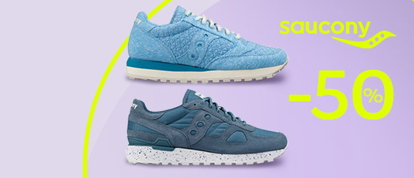Saucony -50% discounts on running shoes