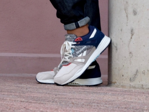 Shoes REEBOK AQ9683 Gray, Blue, Suede