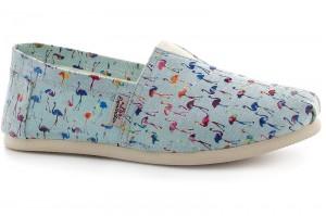 Летняя обувь Las Espadrillas lightblue flamingo 3015-5