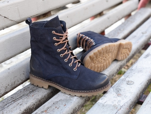 Shoes Forester 3558-892 Navy Combat Dark blue nubuck