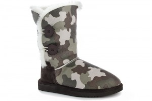 Sheepskin Boots Forester 51003 - 1022 Natural camouflage fur