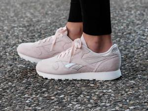 Кросівки Reebok Classic Leather Shimmer Pale Pink/Matte Silver/Chalk bs9865