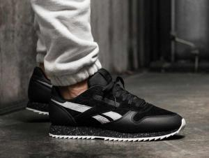 Кросівки Reebok Classic Leather Ripple Sm \ Black/Cool Shadow/Chalk BS9726