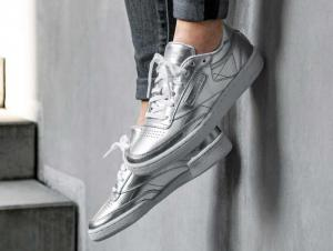 Кросівки Reebok Club C 85 S Shine \ Silver/White cm8686