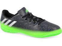 Бутсы Adidas Messi 16.4 In Junior AQ3527 унисекс   (зеленый/чёрный)
