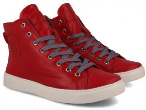 Leather shoes Forester High Step Red 132125-479MB