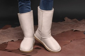Sheepskin Boots Forester 11050-2201 Beige Leather