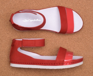 Orthopedic shoes Las Espadrillas 07-0275-003(red)