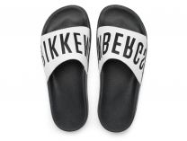 Slippers Dirk Bikkembergs BKE Swimm 108367-2713 Made in Italy unisex (black/white)