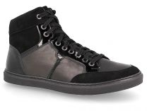 Spring shoes 02-0346-001 Forester Black leather