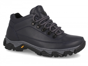 Winter boots Forester Rubber Trak 7843-105 Dark blue, Genuine leather