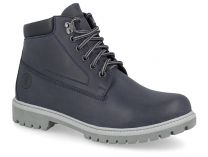 Shoes with fur Forester Urban Trek 8751-005 dark blue, Genuine leather
