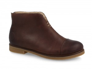 Winter low boots Forester Hot Chokolate 3261-85 Dark brown leather