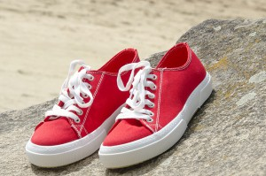 Red canvas shoes Las Espadrillas 4366-47SH Cotton