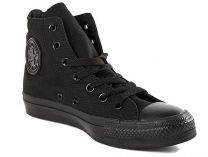 Кеди Converse Chuck Taylor All Star Core Hi Black Monochrome M3310 унісекс (Чорний)