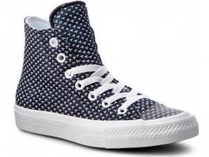 Женские кеды Converse Chuck Tailor All Star II Hi 155457C   (синий/белый)