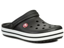 Сандалии Crocs Crocband 11016-001 унисекс   (чёрный/белый)