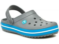 Sandals Crocs Crocband 11016-07W unisex (dark grey/blue/gray)
