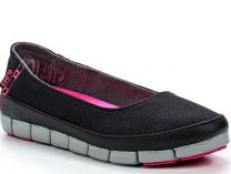 Мокасины Crocs Stretch Sole Flat 15317-02G   (чёрный)