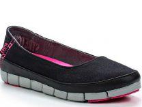 Мокасины Crocs Stretch Sole Flat 15317-02G   (чёрный)