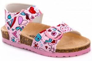 Lumberjack sandals Pink baby Cozy Step 240445