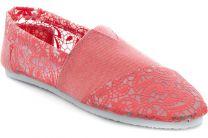Женская текстильная обувь Las Espadrillas 2014-20   (красный)