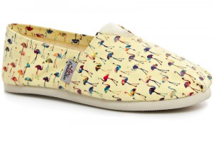 Жіночі еспадрільї Las Espadrillas Yellow Flamingo 3015-14