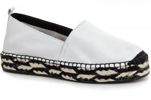 Summer shoes Las Espadrillas 3070-13 White leather