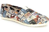 Текстильная обувь Las Espadrillas 3618-2213 унисекс   (multi-color/голубой/красный)