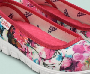 Спортивные балетки Las Espadrillas Pink Flowers Motion Foam 22635-4628