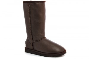 Sheepskin Boots Forester 11050-2005 Dark brown leather