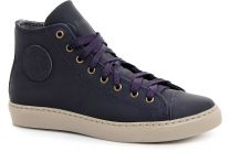 Leather shoes Forester 132125-891MB unisex (Dark blue)