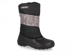 The Forester boots insulated Snow Boots Black 1624-2737, textiles