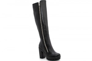 Women's high heels boots Forester 46501-27 Black leather