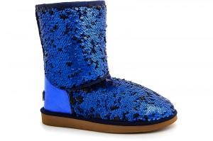 Угги Forester 5005-616 Синие пайетки