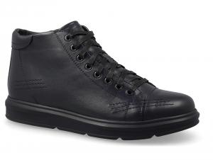 Мужские ботинки Forester Komfort 5778-105 Черная кожа