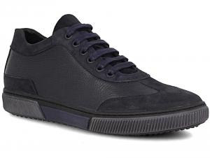 Мужские полуботинки Forester 8045-89   (тёмно-синий)