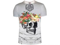 Mr.gugu And Miss Go Skull T-Shirt 1042-1334