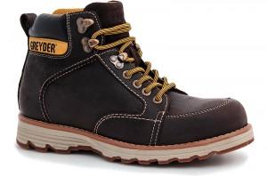 Men's shoes black Greyder 10430-5274 Dark brown leather