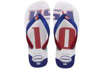 Пляжная обувь Havaianas 1 унисекс   (красный/синий/белый)