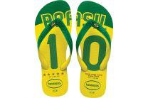 Пляжная обувь Havaianas 5 унисекс   (зеленый/жёлтый)